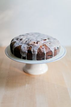 Zucchini Blueberry Bread Cake with Lemon Glaze // The Harvest Food Blog.. try in bunt cake pan