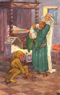 Helen Stratton - Rumpelstiltskin (busten a move) - Grimm - 1903 Original Fairy Tales, Classic Fairy Tales, Rumpelstiltskin, Illustrations, Illustration Art, Rapunzel, Brothers Grimm, Vintage Fairies, Grimm Fairy Tales
