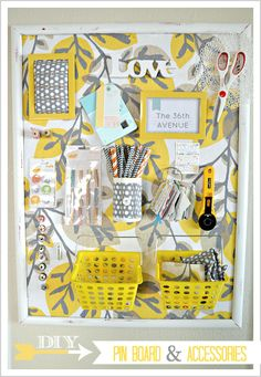 DIY pin board for craft room. Diy Crafts Room Decor, Space Crafts, Home Crafts, Diy And Crafts, Diy Projects To Try, Craft Projects, Creation Couture, Diy Pins, Home And Deco
