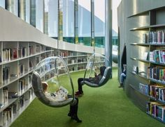 Public Library in Thionville, France // Designs for the community Public Library Design, Bookstore Design, School Library Design, Modern Library, Public Libraries, Public Library Architecture, School Libraries, Library Plan, Library Cafe