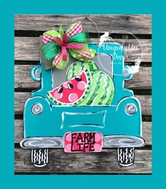 Excited to share this item from my shop: Watermelon Truck Door Hanger, Summer Door Hanger, Truck Door Hanger, Door Hanger, Watermelon Door Hanger Cross Door Hangers, Burlap Door Hangers, Letter Door Hangers, Wooden Doors, Wooden Signs, Truck Crafts, Classic Doors, Porch Signs, Door Signs