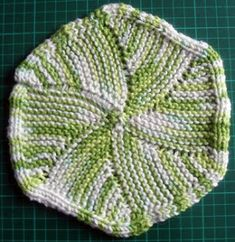 A brand new cloth - simple by design - hexagon  by shape.   Materials:  1 ball worsted weight cotton yarn, size 4mm needles. I used Sugar'n ...