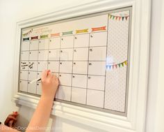 Blank Reusable Monthly Calendar-Joy in the by DarlingDoodle