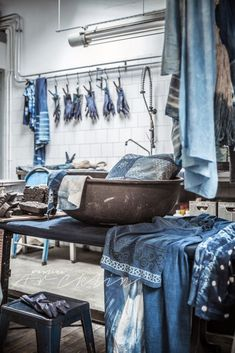 Dream indigo dyeing studio! © Paulina Arcklin | THE SECRET SOUK - BLUE BAZAAR IN AMSTERDAM AT HARVEST&CO OCT 22ND - NOV 7TH www.thesecretsouk.com:
