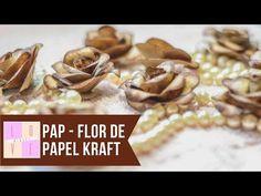 COMO FAZER FLOR DE PAPEL CRAFT SUPER FÁCIL :: CRAFT E ART - YouTube