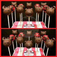 Lumberjack cake pops...woodland theme cake pops...moose cake pops...bear cake pops