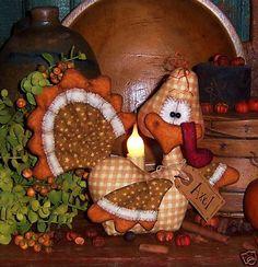 Primitive Thanksgiving Turkey Bird Doll Pattern 522 | eBay
