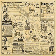 The Magic of Oz: Sneak Peek Round - Graphic Graphic 45, Papel Vintage, Vintage Paper, Vintage Labels, Vintage Ephemera, Magic Of Oz, Halloween Vintage, Image Halloween, Silkscreen