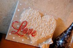 Love the heart. Cute and simple string art