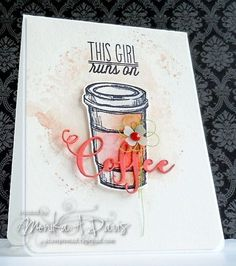Handmade card by Monika Davis using the Coffee set and word die from Verve. #vervestamps
