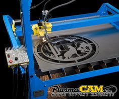 See why people prefer PlasmaCAM's affordable CNC Plasma Cutting Table. This is the best plasma cutting machine for creating metal art, custom auto parts, or any other metal shape you may need! Cnc Plasma Table, Cnc Plasma Cutter, Plasma Cutting, Plasma Machine, Cnc Machine, Metal Projects, Welding Projects, Ironing Station, Custom Metal Art
