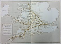 Map of the Great Western Railway in 1913.
