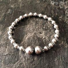 Gesgi Beads Bracelet Silver Trans GBST6 « Gesgi Beads