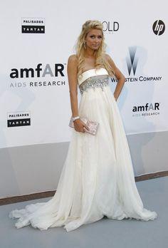 Paris Hilton in one-of-a-kind Jean Fares Couture — 2010 amfAR's Cinema Against AIDS Gala