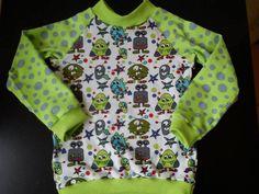 Pullover - Monster Shirt Gr. 86 - ein Designerstück von Creativlaedchen bei DaWanda