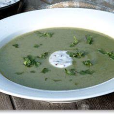 Puréed Summer Squash Soup with Raita - FineCooking
