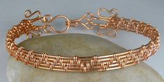 Arthritis Healing Copper Wire Woven Bracelet Rheumatism, Electromagnetic Protection Stylish Modern on Etsy, $54.00