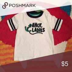 Jumping Bean Ahoy Ladies t-shirt Never worn, looks brand new. Cute nautical theme 🌊⚓️ Shirts & Tops Tees - Short Sleeve