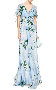 Mariana Silk Floral Maxi Dress by Isolda - Moda Operandi All Fashion, Womens Fashion, Fashion 2015, Yes To The Dress, Floral Maxi Dress, Pretty Outfits, Pretty Clothes, Gorgeous Women, Cold Shoulder Dress