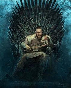 Vikings - Ragnar Lothbrok is the King of the Throne Vikings Show, Vikings Game, Watch Vikings, Viking Life, Viking Warrior, Ragnar Lothbrok Vikings, Ragner Lothbrok, Ragnar Lothbrok Quotes, Viking Wallpaper