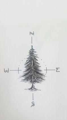 Working on a fir tree tattoo for myself _____________________________ #fir…
