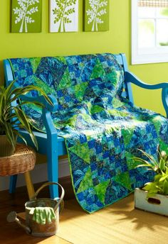Island Oasis by Pat Sloan from Quilts & More Fall 2013