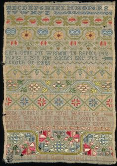 History of samplers: 18th century - Victoria and Albert Museum