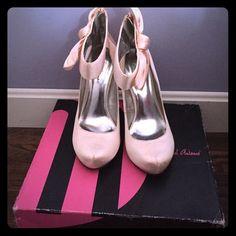 "Selling this ""Michael Antonio ladina nude satin heels"" in my Poshmark closet! My username is: ekosi21. #shopmycloset #poshmark #fashion #shopping #style #forsale #Michael Antonio #Shoes"