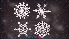 Making snowflakes: Ideas and instructions for great winter decoration