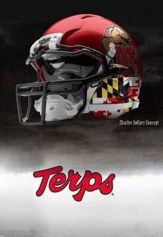 Maryland Terrapins Nike Pro Combat Concept Helmet