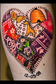 about *temptats* on Pinterest | Fingers Temporary Tattoos and Pin ... : quilt heart tattoo - Adamdwight.com