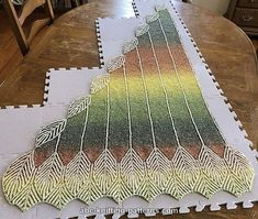 Ravelry: Turning Leaves Brioche Shawl pattern by Elaine Phillips