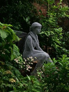 "Chicken wire garden fairy...    Derek Kinzett Wire Sculptures. ""Titania"" Midsummer Night ...     by Derek Kinzett Wire Sc"
