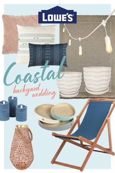 Beach wedding turned backyard wedding? Shop our selection of items to inspire the perfect coastal backyard wedding.