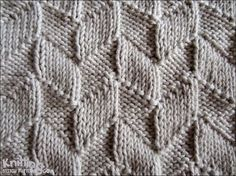 This easy design uses only the knit (k) and purl (p) stitches, but the pattern it produces is very effective.