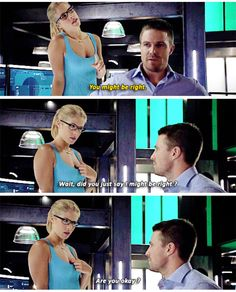 """Arrow was bloody amazing! Stunts were insane, Oliver & Felicity just get together already! Arrow Felicity, Oliver Queen Felicity Smoak, Arrow Cw, Arrow Oliver, Team Arrow, The Cw Shows, Dc Tv Shows, Supergirl Superman, Supergirl And Flash"