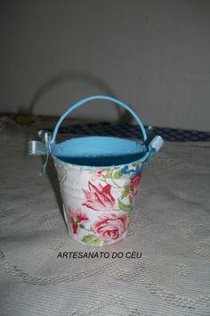 Mini Baldinho Florzinhas - R$ 10,00 Cod. PMC  020 - VENDIDO