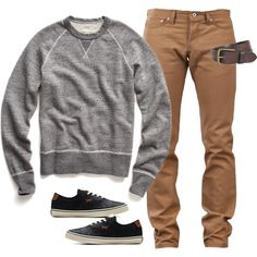 """Chino and Grey"" by elise-olivia on Polyvore"