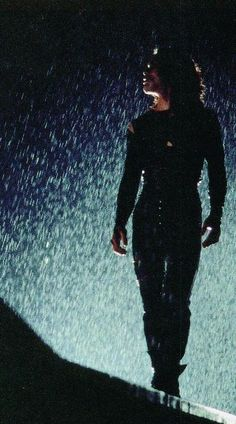 , The Crow, I love this photo the light effect with the rain. But then it makes me sad knowing it's the last thing Brandon Lee did