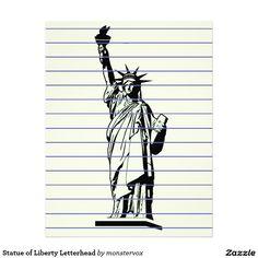 Statue of Liberty Letterhead #StatueOfLiberty #Statue #NewYork #Liberty #Freedom #Refugee #Immigrant #Immigration #USA #Letterhead #Stationery