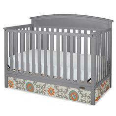 "Graco Benton 5-in-1 Fixed-Side Convertible Crib - Pebble Gray - Graco - Babies ""R"" Us"
