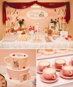 Vintage+Mad+Hatter+Tea+Party+{Pink+&+Red}