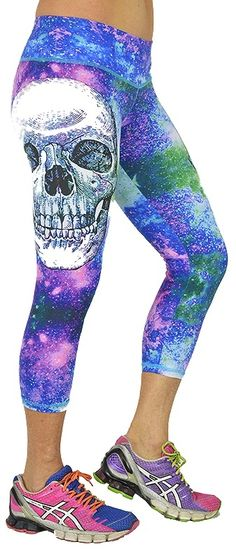 Shape Up Purple Big Skull Capri at San Diego Fit