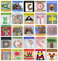 Letter of the week crafts for preschoolers.