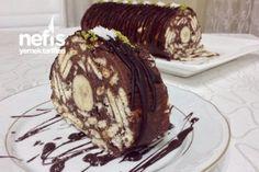 Şahane Rulo Mozaik Pasta ( Harika Kremasıyla ) Tarifi