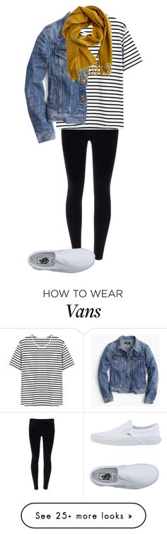 """Outfit for the Train"" by northernprep-nl12 on Polyvore featuring Vans, J.Crew and Hermès"