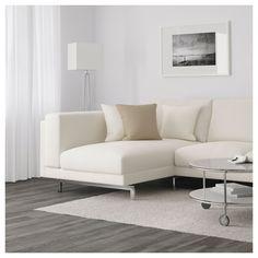 IKEA - NOCKEBY Sofa with chaise, left Tallmyra, Tallmyra chrome plated Ikea Nockeby Sofa, Ikea Sofas, Canapé D'angle But, Living Room Furniture, Home Furniture, Ikea Bank, Ikea Us, Canapé Angle Convertible, Home Decor