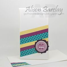 Gothdove Designs - Alison Barclay - Stampin' Up! Australia - Stampin' Up! Bohemian Washi Tape #stampinup #washi #card #inspirecreateshare2015 #gothdovedesigns