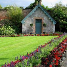 country garden, garden is bigger than house