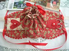 fabric valentine purse and bag | scissor holder fabrics are rouenneries by french general for moda